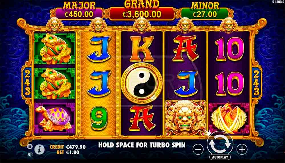 Play For Free 5 Lions Gold Slot
