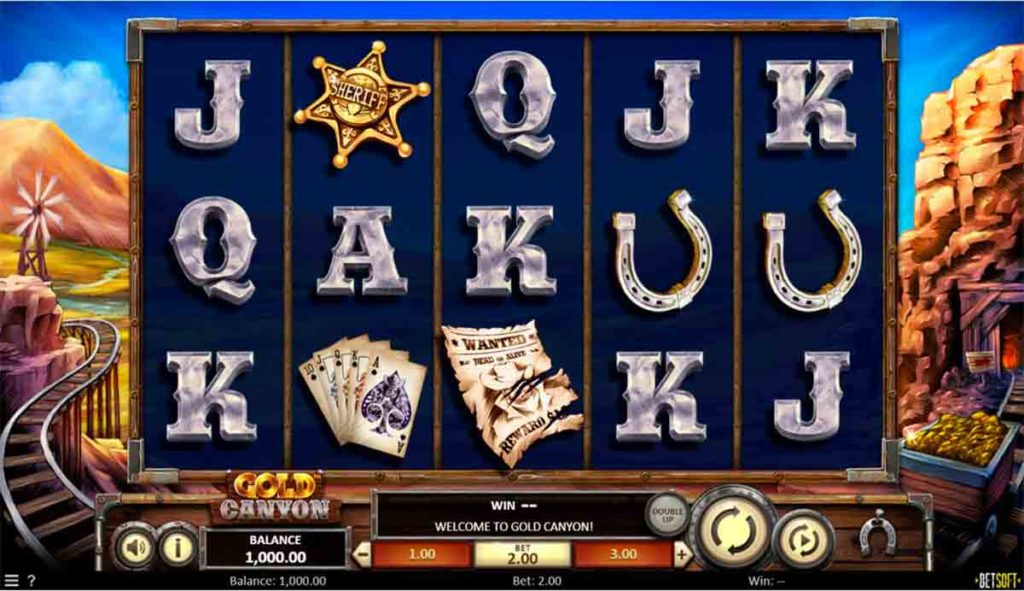 Play For Free Gold Canyon Slot