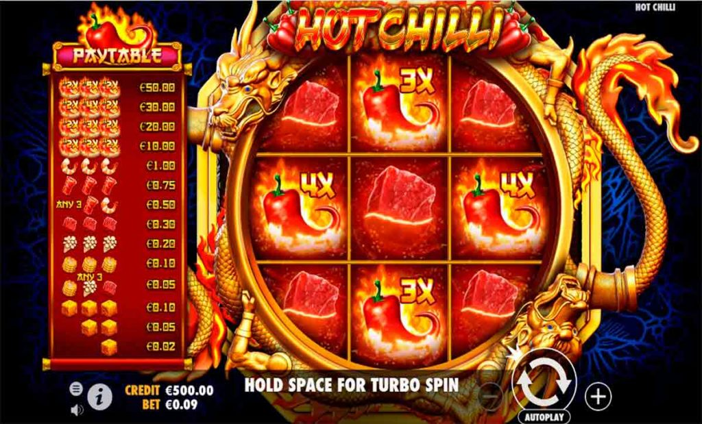 Play For Free Hot Chilli Slot