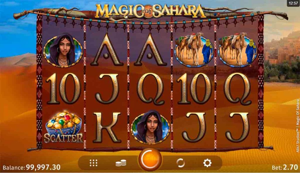 Play For Free Magic of Sahara Slot