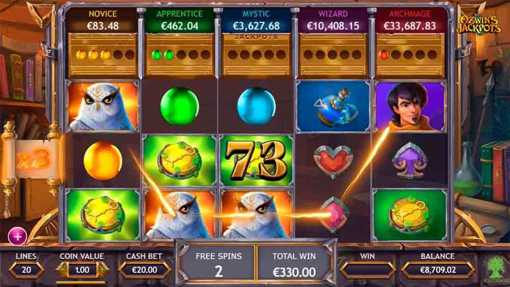 Play For Free Ozwin's Jackpots Slot