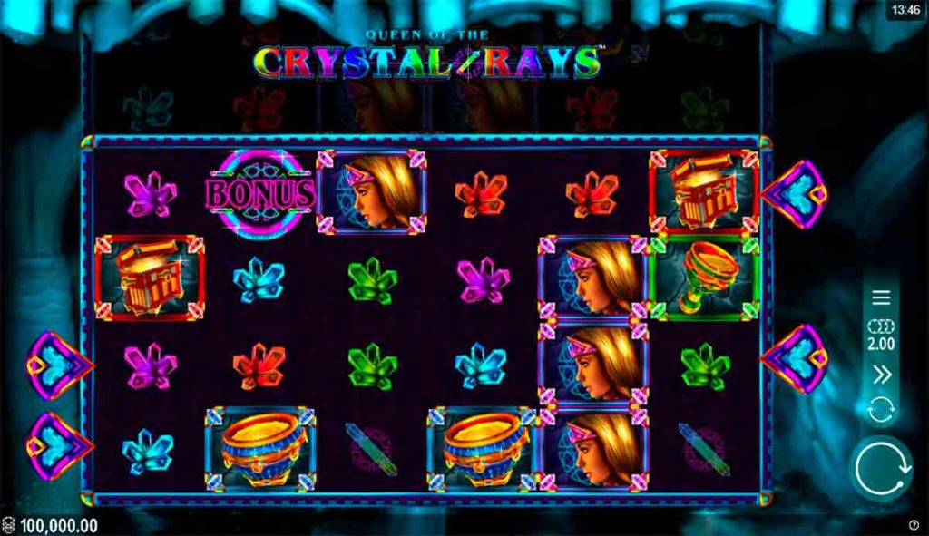 Play Queen of the Crystal Rays Free Slot