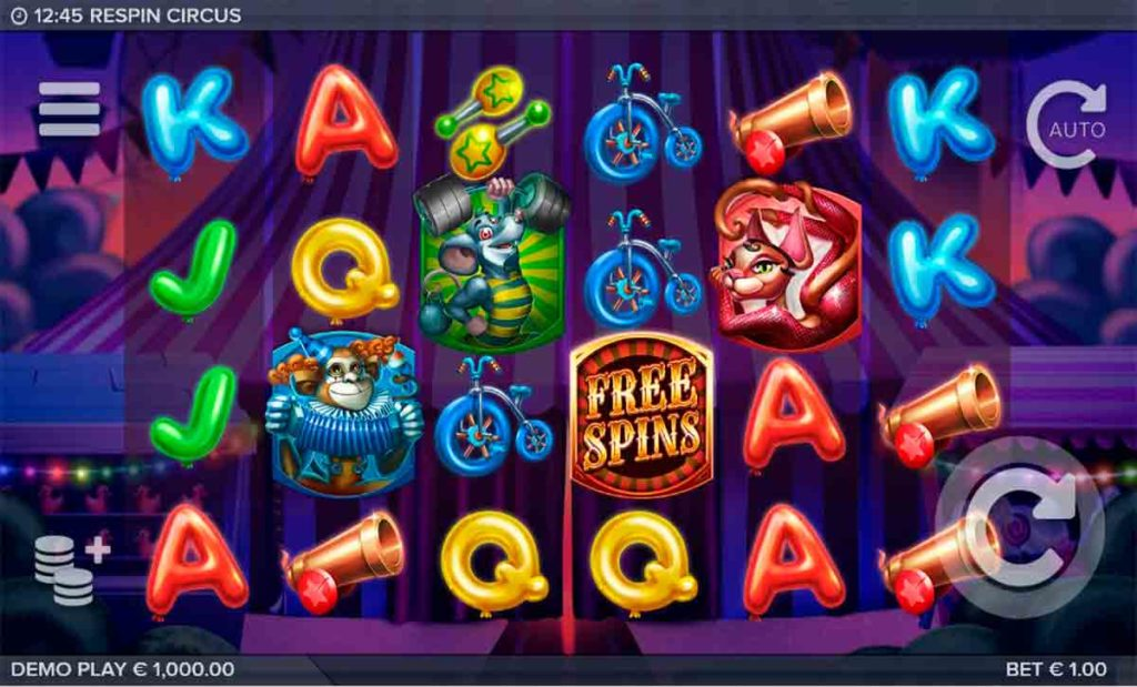 Play For Free Respin Circus Slot