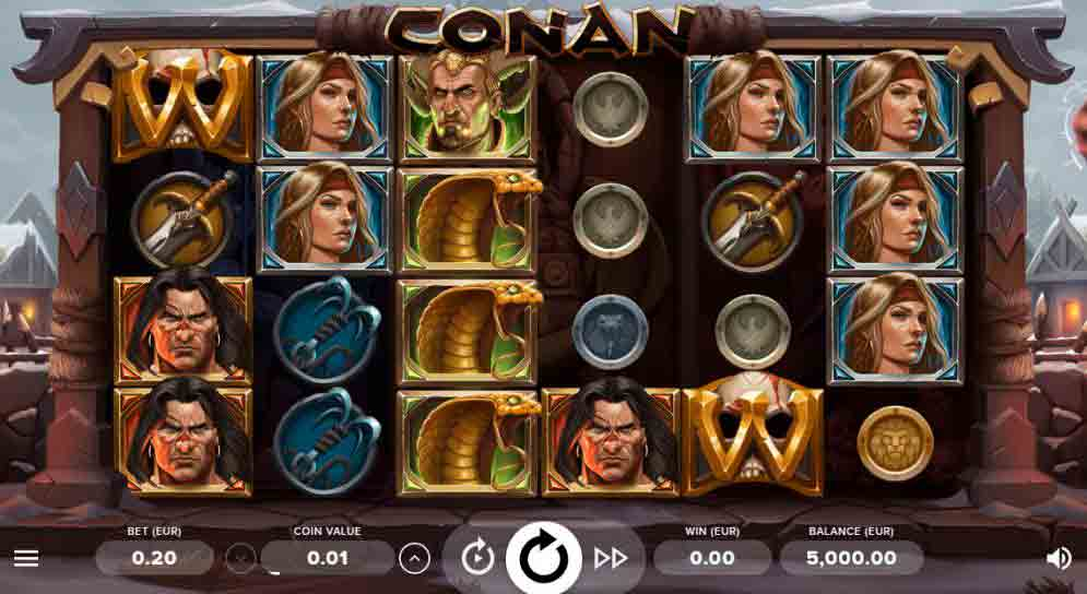 Play For Free Conan Slot