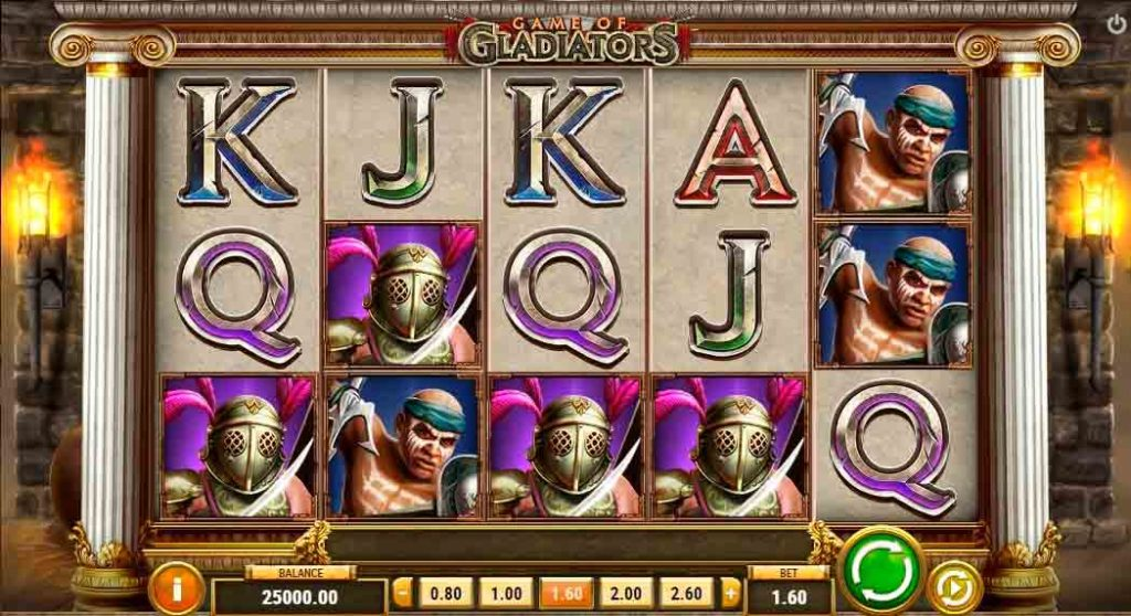 Play For Free Game of Gladiators Slot