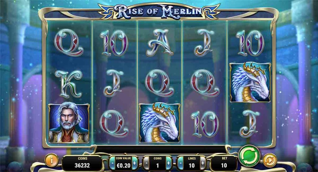 Play For Free Rise of Merlin Slot
