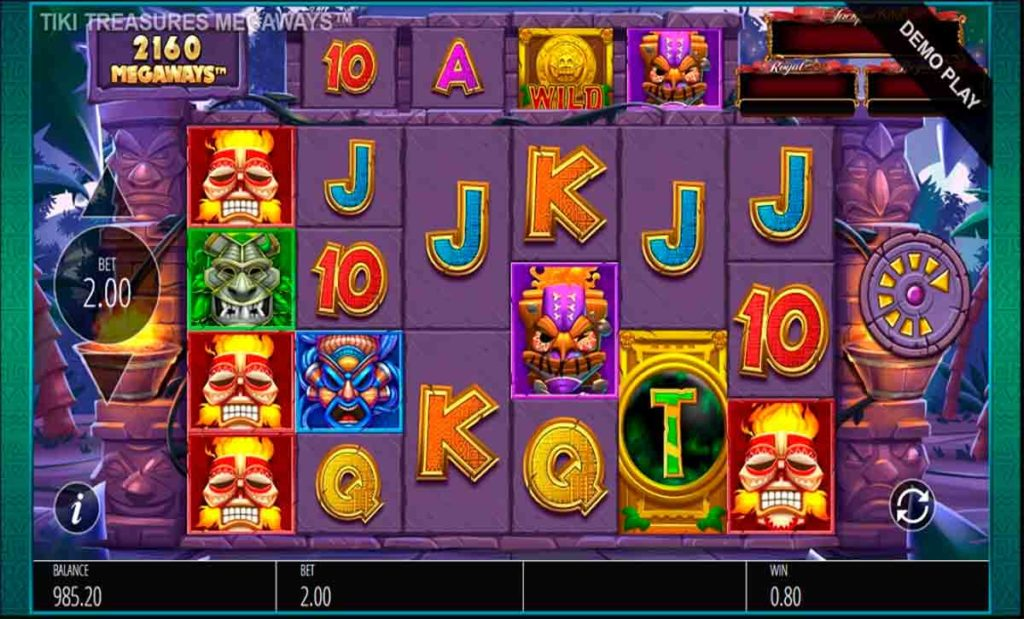 Play For Free Tiki Treasures Megaways Slot