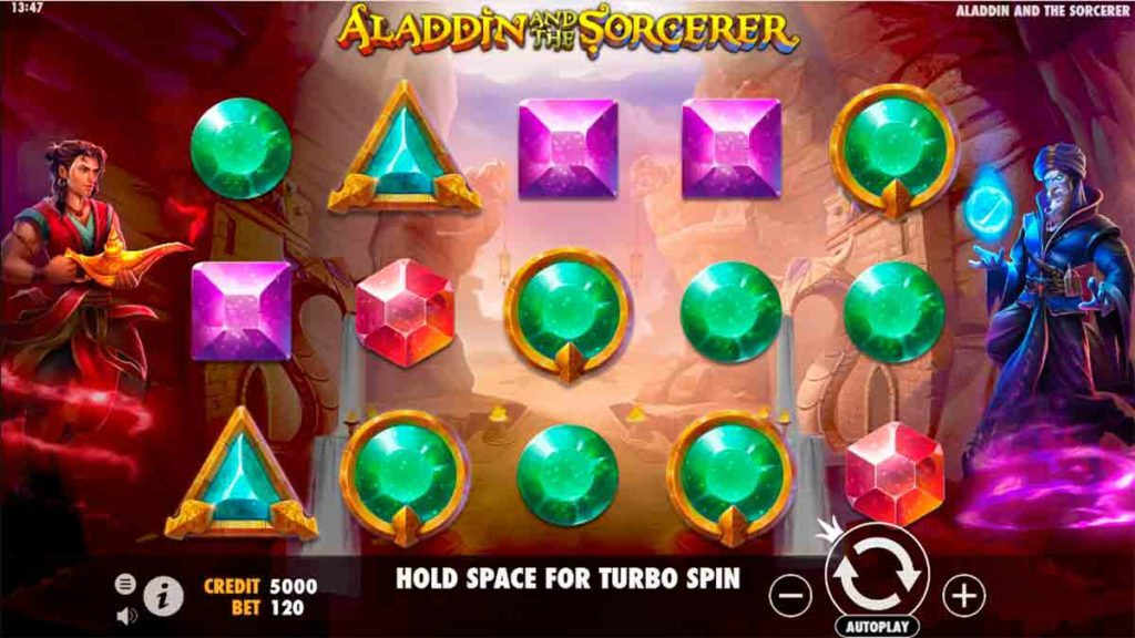 Play Free Aladdin and the Sorcerer Slot