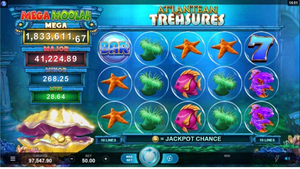 Play Free Atlantean Treasure Mega Moolah Slot