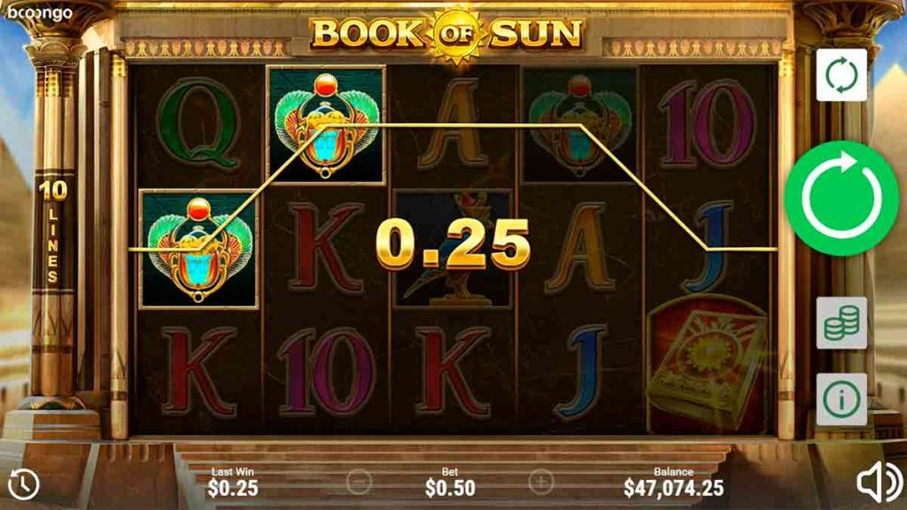 Play For Free Book of Sun Slot