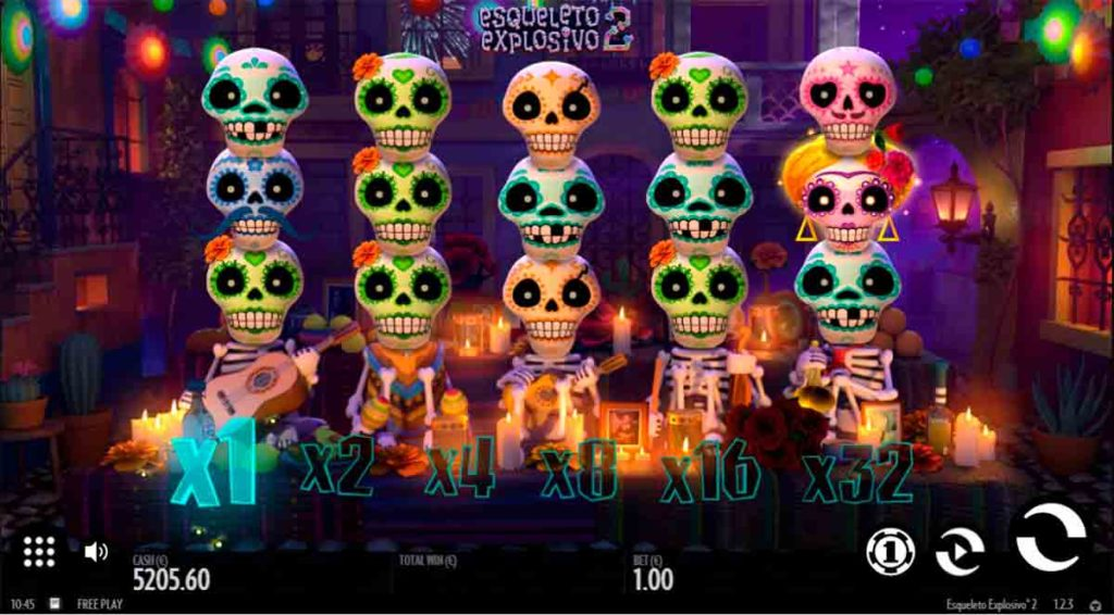 Play Free Esqueleto Explosivo 2 Slot