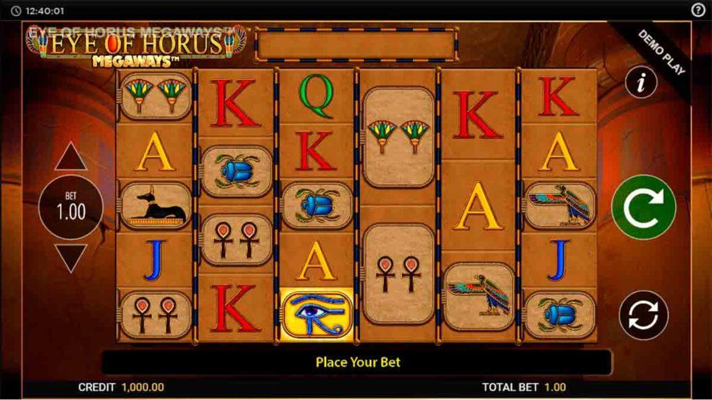 Play Free Eye of Horus Megaways Slot