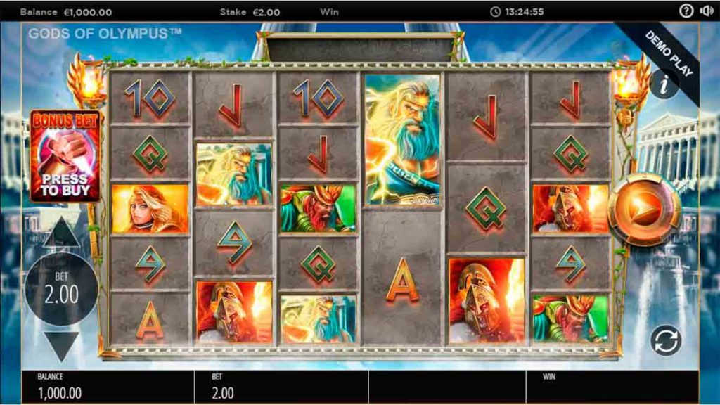 Play Gods of Olympus Megaways Free Slot