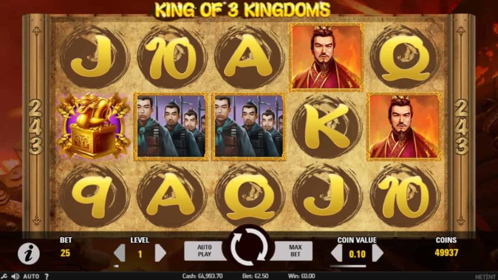 Play Free King of 3 Kingdoms Slot