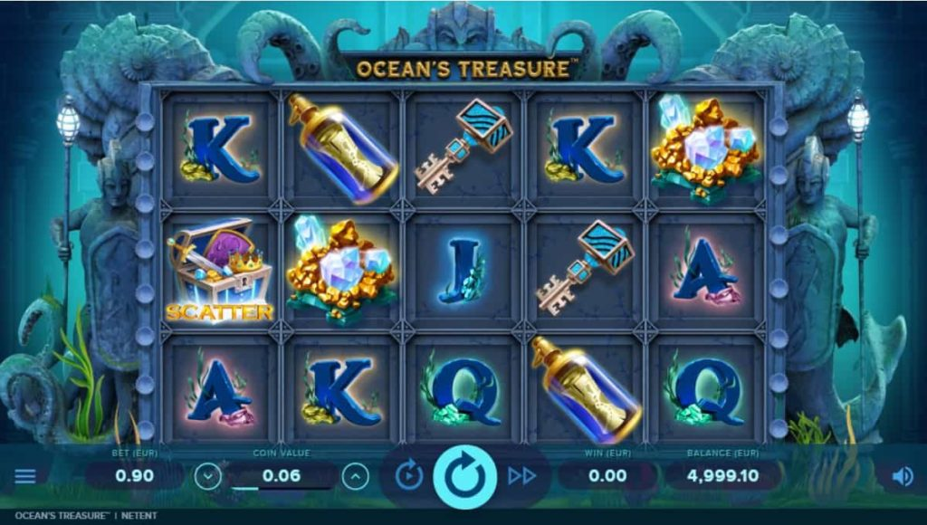 Play Free Ocean's Treasure Slot