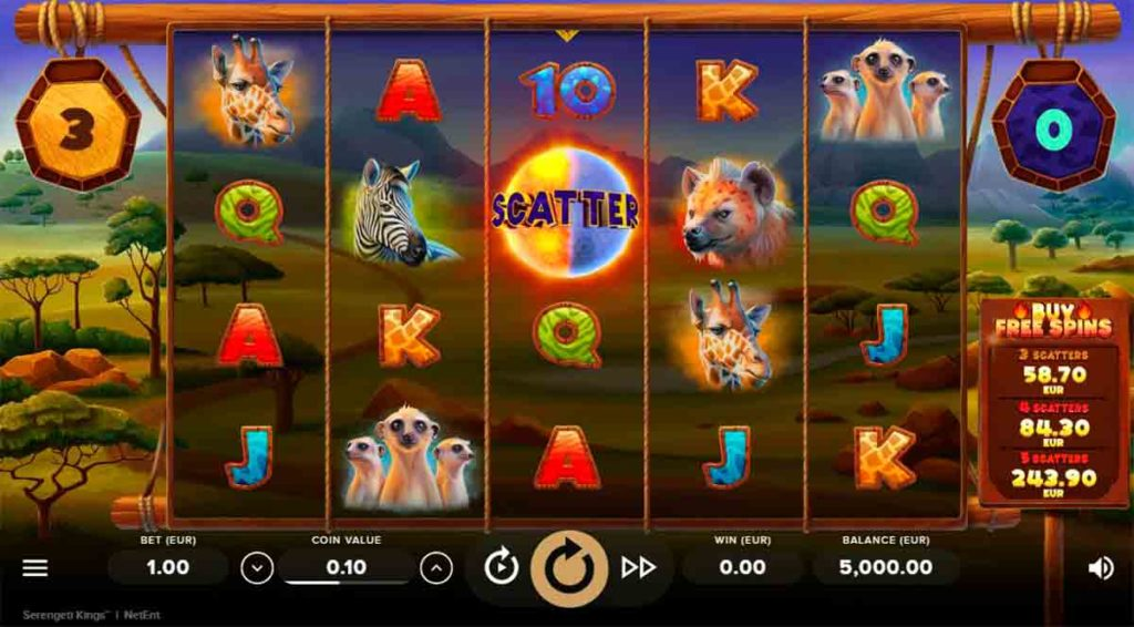 Play Free Serengeti Kings Slot