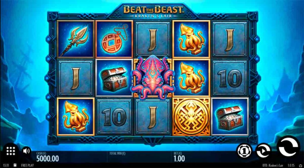 Play Free Beat the Beast: Kraken's Lair Slot