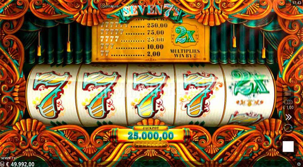 Play Free Seven 7's Slot
