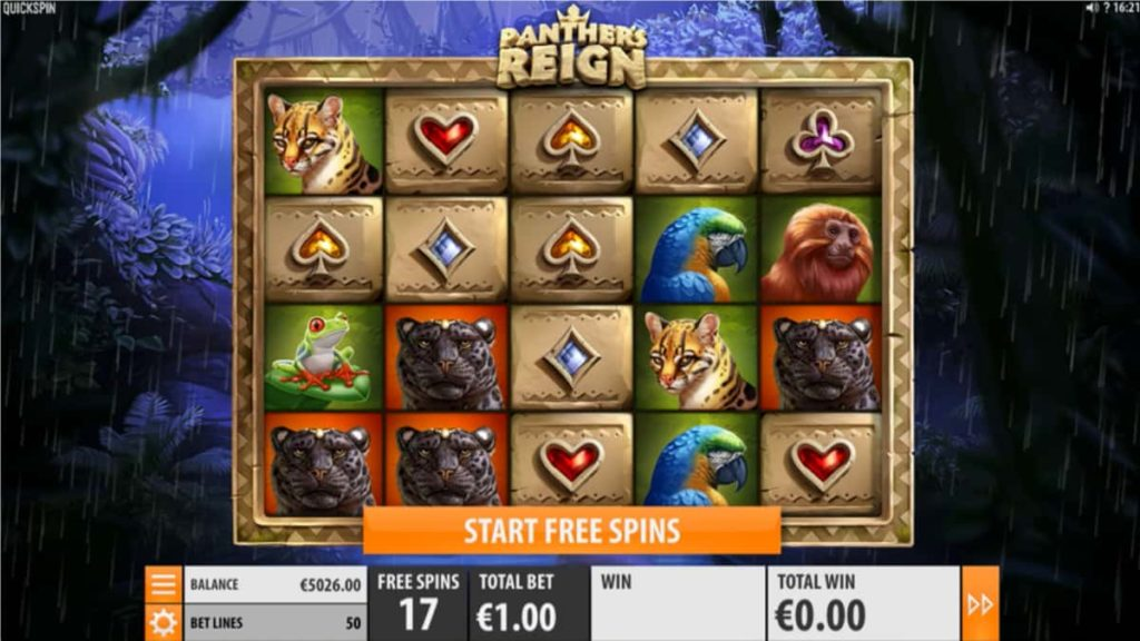 Play Free Panther's Reign Slot