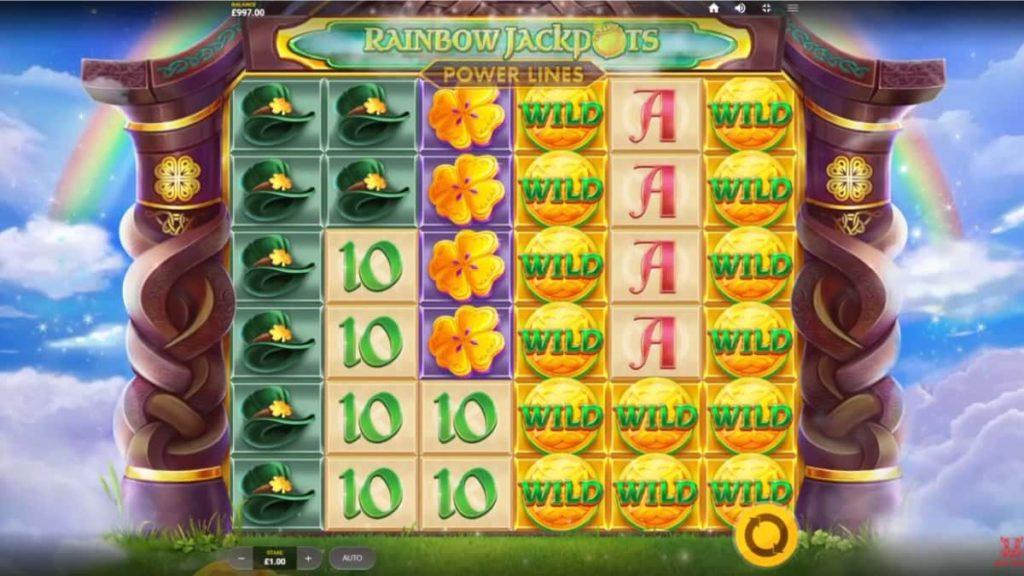 Play Free Rainbow Jackpots Power Lines Slot