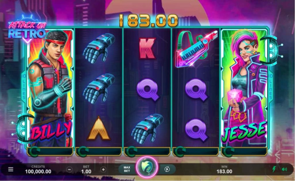 Play Free Attack on Retro Slot