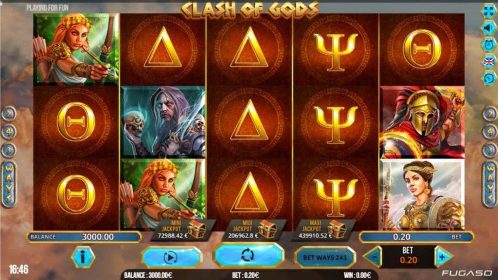 Play Free Clash of Gods Slot