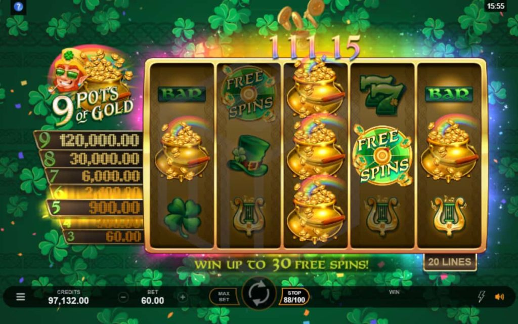 Play Free 9 Pots of Gold Slot