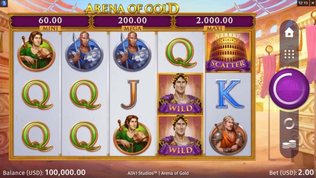 Play Free Arena of Gold Slot