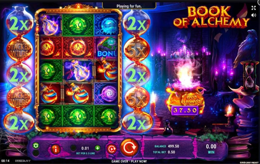 Play Free Book of Alchemy Slot