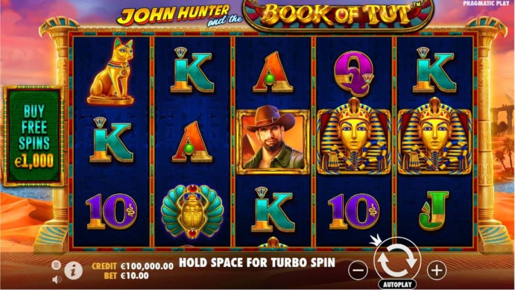 Play Free John Hunter and the Book of Tut Slot