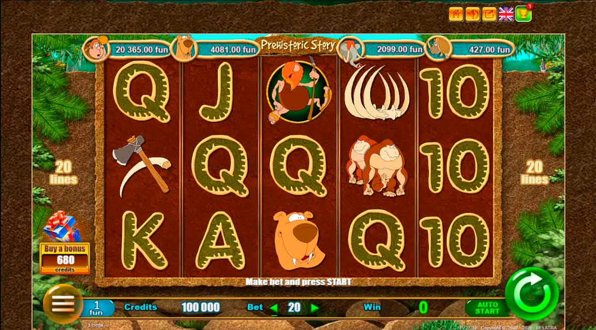 Play Free Prehistoric Story Slot Review