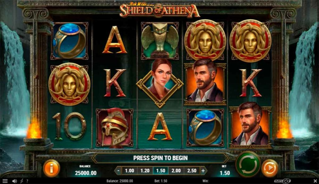 Play Free Rich Wilde and the Shield of Athena Slot
