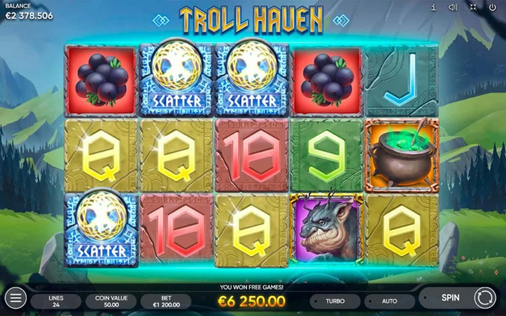 Play Free Troll Haven Slot