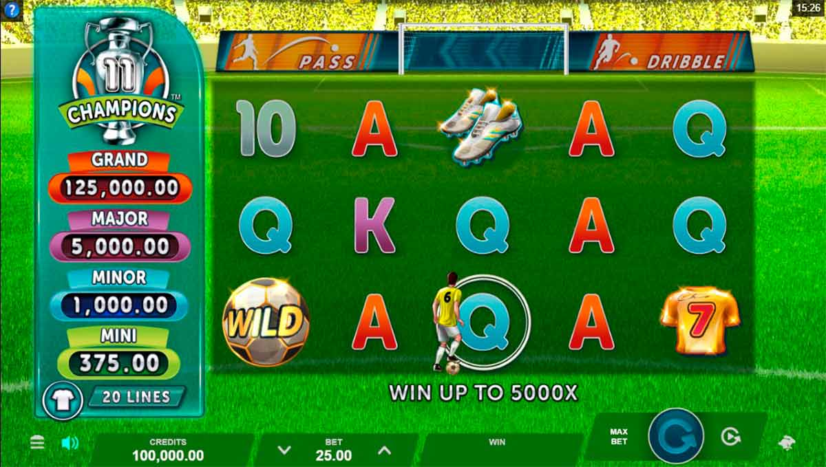 Play Free 11 Champions Slot