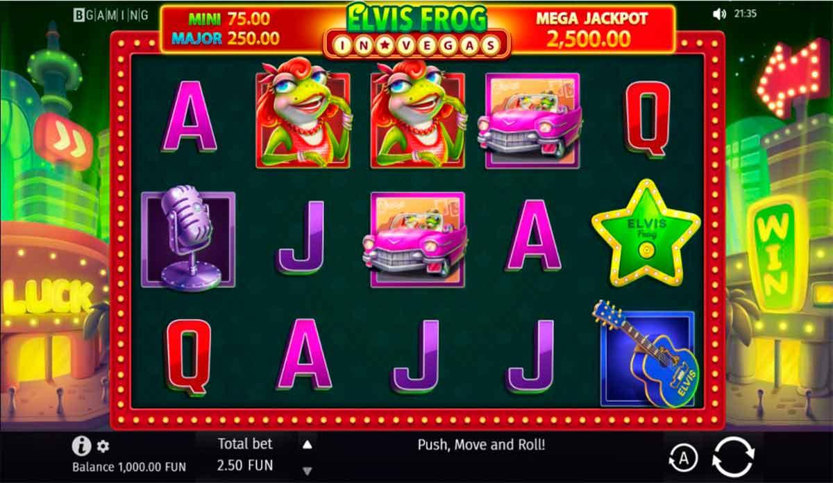Play Free Elvis Frog in Vegas Slot