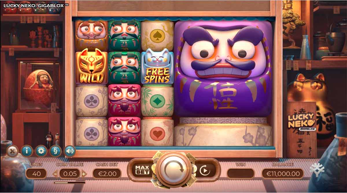 Play Free Lucky Neko Gigablox Slot