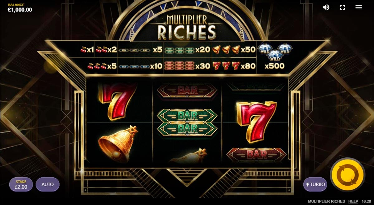 Play Free Multiplier Riches Slot