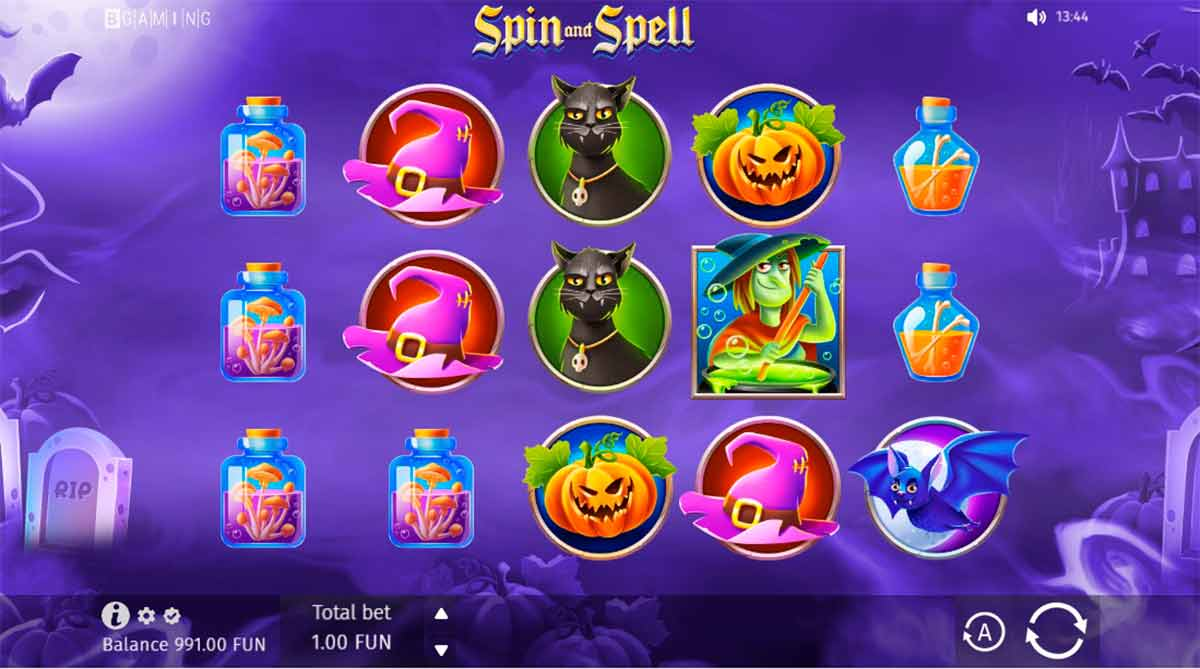 Play Free Spin and Spell Slot