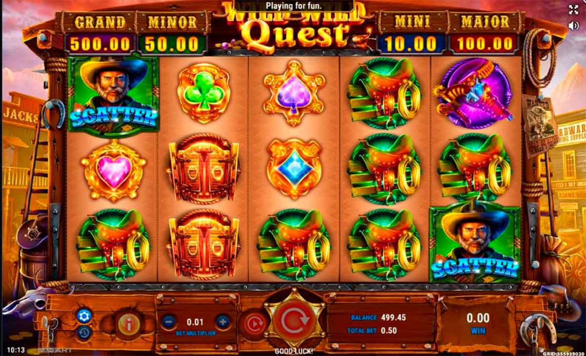 Play Free Wild Wild Quest Slot