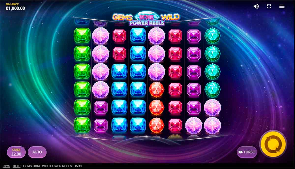 Play Free Gems Gone Wild Power Reels Slot