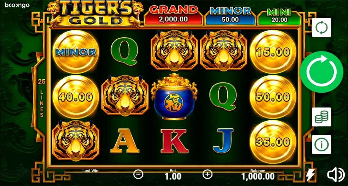 Play Free Tigers Gold Slot