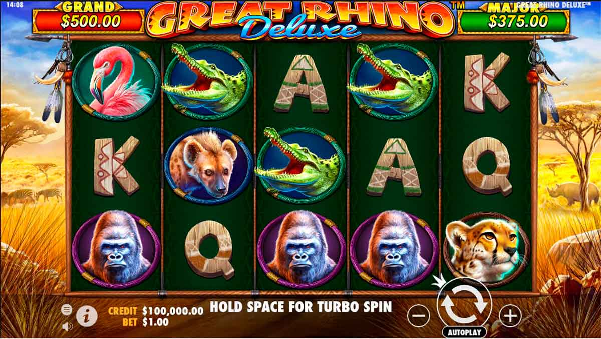 Play Free Great Rhino Deluxe Slot
