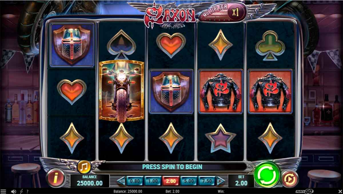 Play Free Saxon Slot